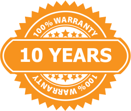 10 Year Warranty from Big Barker the bed guaranteed to never flatten