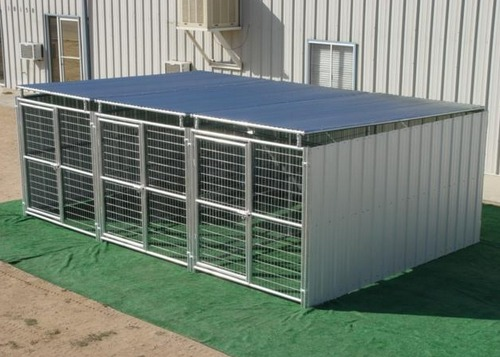 Heavy Duty Dog Kennels Welded Steel Wire Construction Shed Row Type