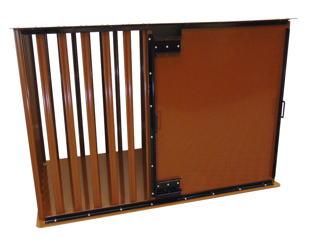 Strongest heavy duty dog crate CMD Aluminum construction side entry