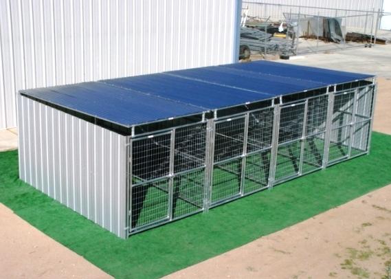Heavy Duty Outside Dog Kennels Steel Wire Construction