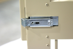 "48"" aluminum crate door inside view paddle door latch"