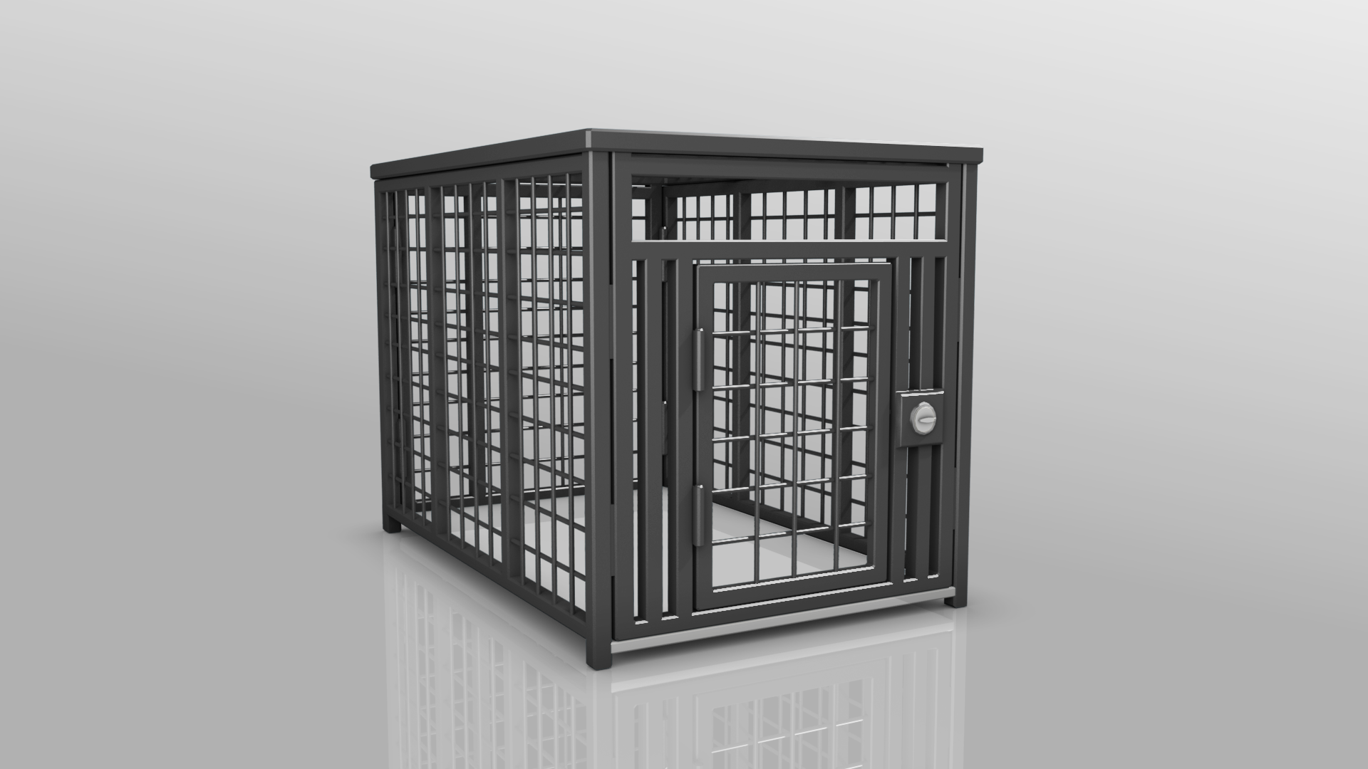 Heavy Duty dog crate 3D black from carrymydog.com