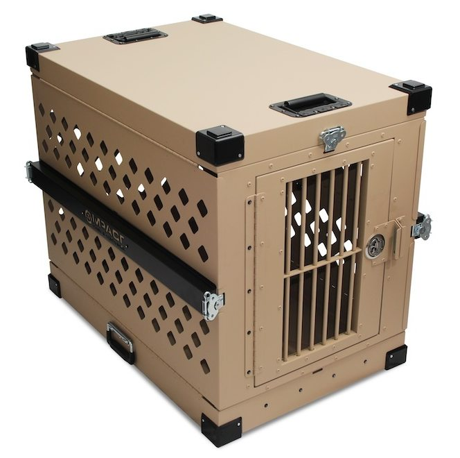 Collapsible Heavy Duty Aluminum Dog Crate