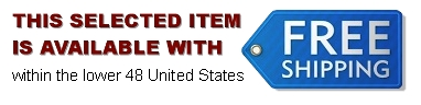 Free Shipping to anywhere in the continental USA