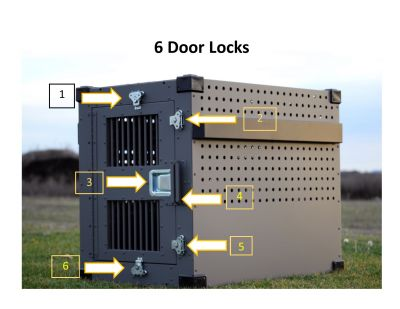 Locking Opportunities for the Strongest Heavy Duty Dog Crate from CarryMyDog.com
