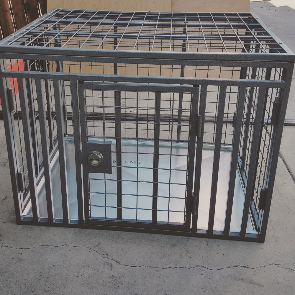 Giant heavy duty dog crate side door custom from carrymydog.com