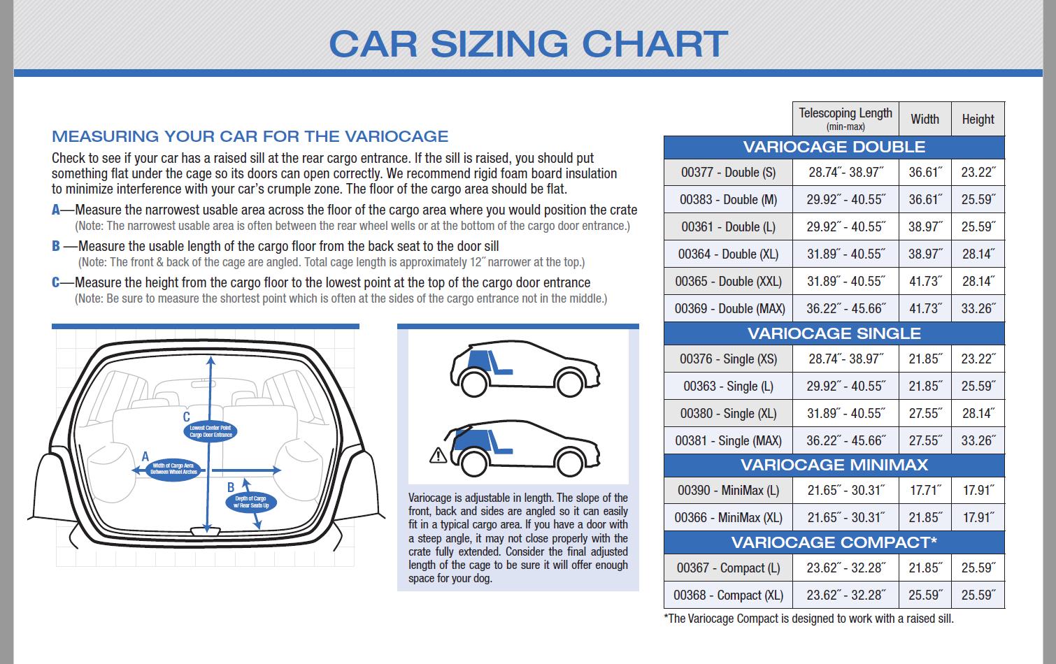 Auto sizing chart