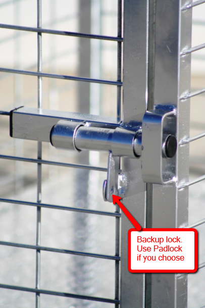 Sliding style lock for heavy duty dog crates collapsible, standard and custom